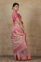 Chanderi Mercerized Silk Saree in Mauve & Pink with Jacquard border