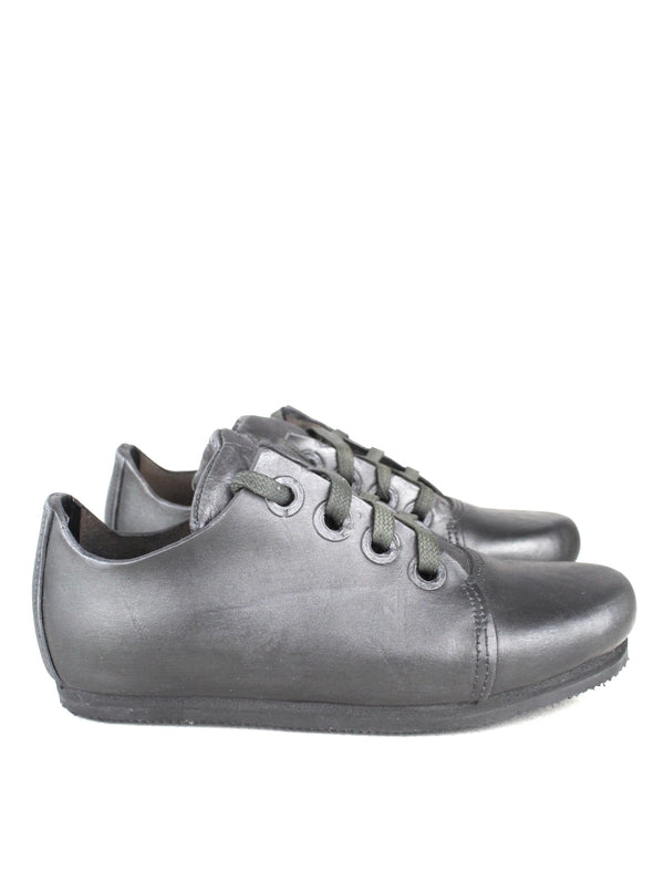 4 HOLES SILVER LEATHER SNEAKERS
