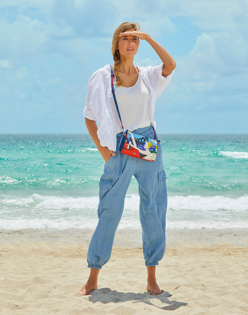 """Sea, Sex & Sun"" little shoulder bag"