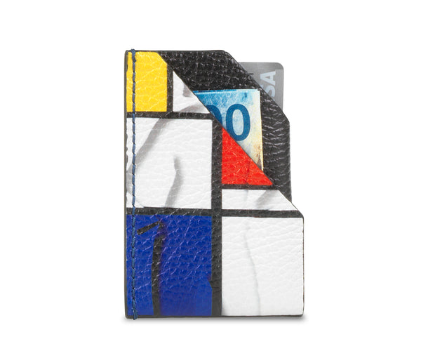 """Mondrian"" Men's card holder"