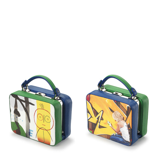 Double sided box bag