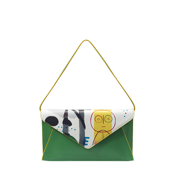 """Sunny face"" Envelope clutch"