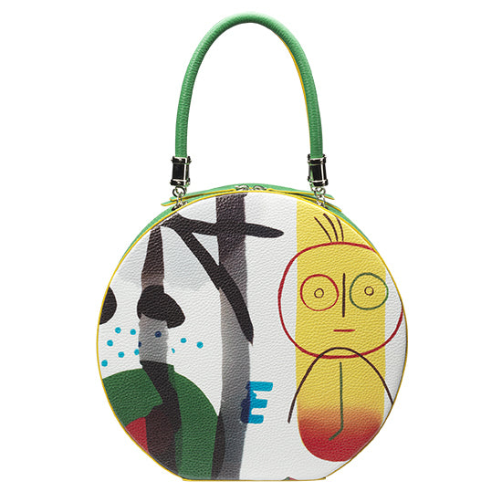 """Sunny face"" Round bag"