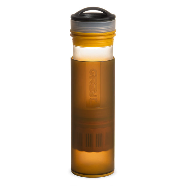 GRAYL Ultralight Compact Water Purifier Bottle - Coyote Amber