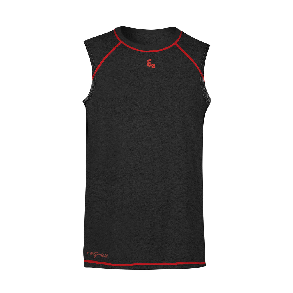 H-Perf Raglan Sleeveless BLK-C-NECK Sport Shirt