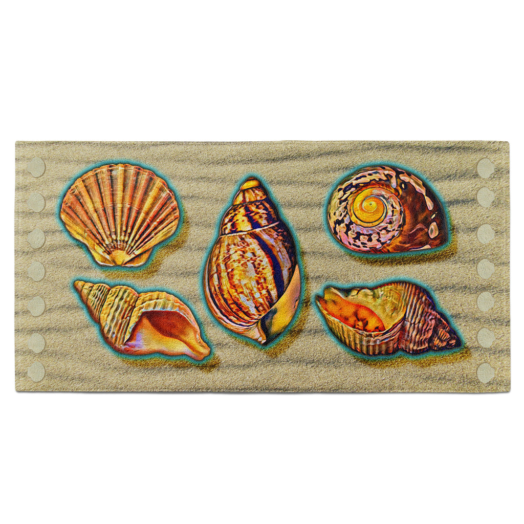 Tropical Sandy Shells Towel