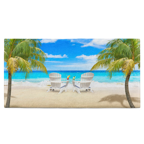 Tropical Beach Scene Towel