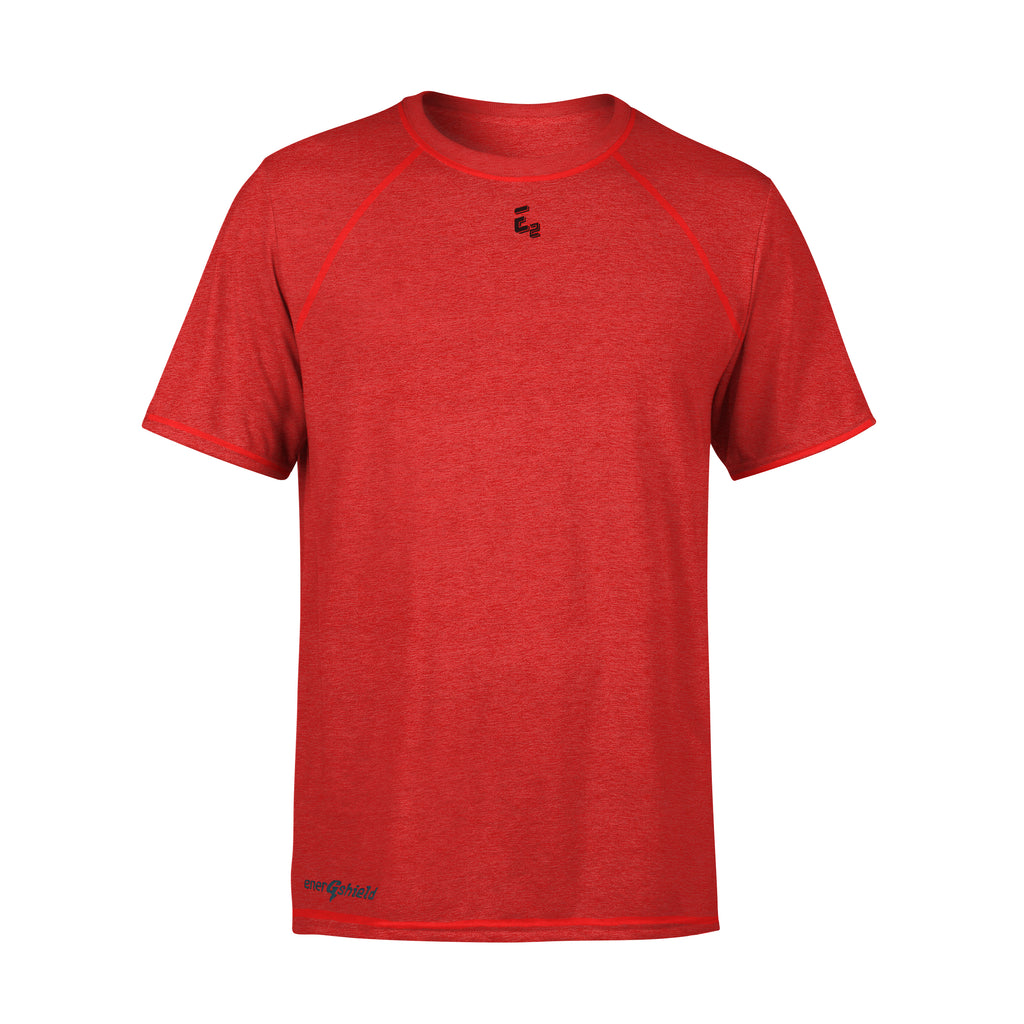 High Perf Compression Raglan RED Sport Shirt