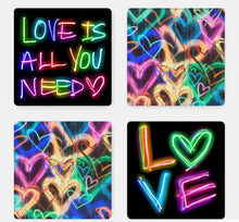 Load image into Gallery viewer, Neon Love Coasters