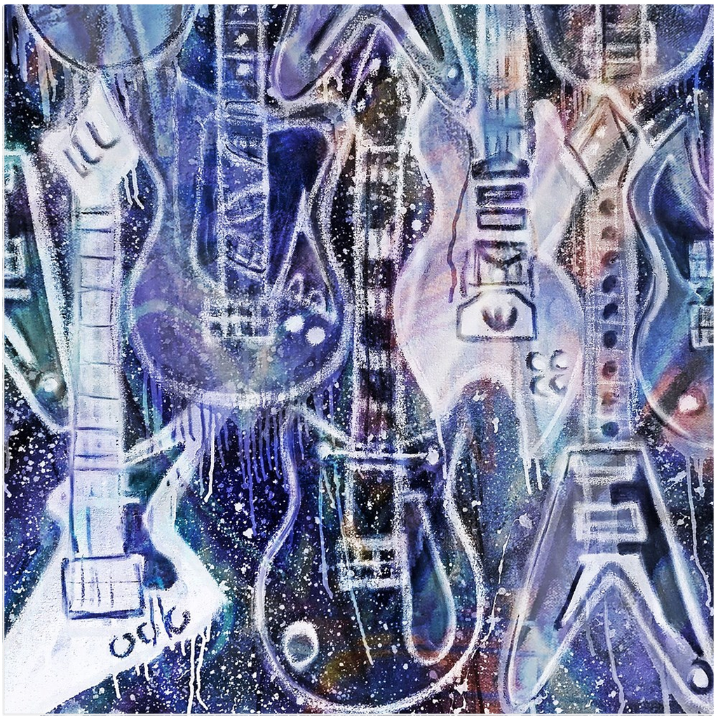 Metallic Rockers Acrylic