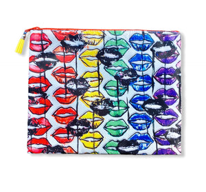 Drippy Lippy Rainbow Pouch