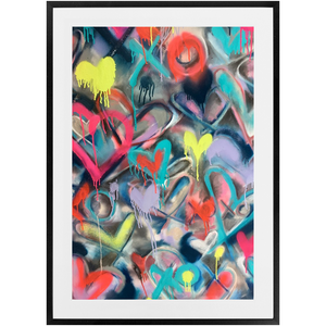 Electric Hearts Print