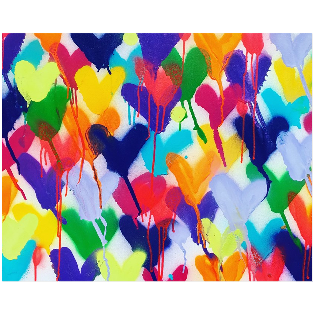 Pouring Hearts Acrylic