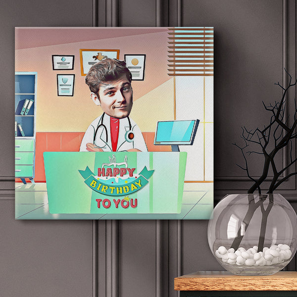 Wall Art Pictures Set for Wall and Home --Happy Birthday Doctor