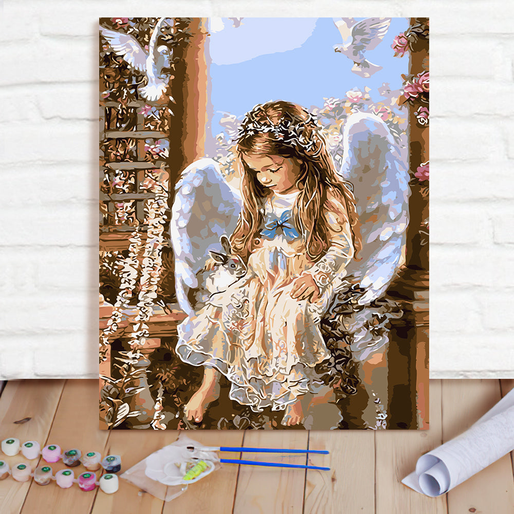 DIY Paint By Numbers Custom Photo Painting Home Decor Wall Hanging-Angel's Waiting Painting