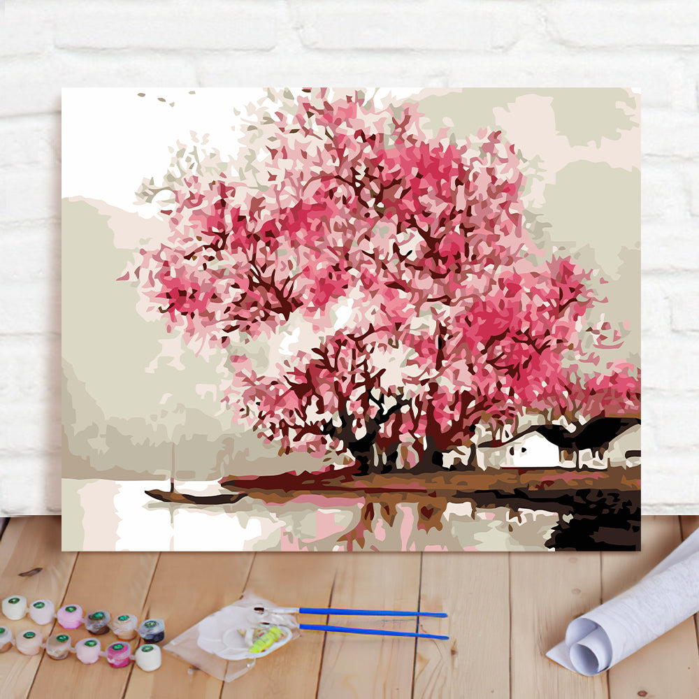 DIY Paint By Numbers Custom Photo Painting Home Decor Wall Hanging-Jiangnan Misty Rain Painting