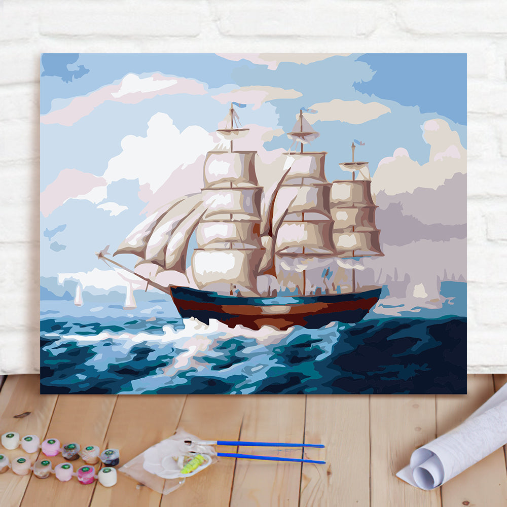 DIY Paint By Numbers Custom Photo Painting Home Decor Wall Hanging-Smooth sailing Painting