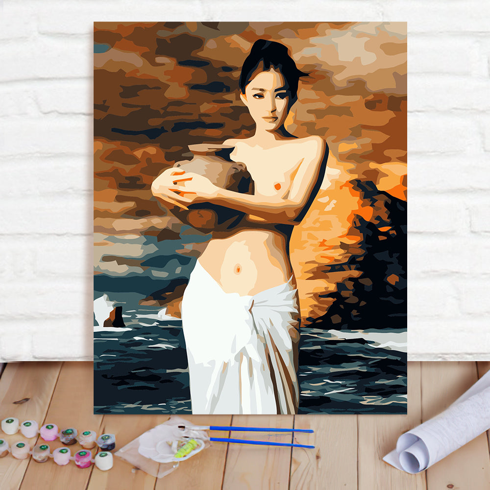 DIY Paint By Numbers Custom Photo Painting Home Decor Wall Hanging-Tao Girl Painting