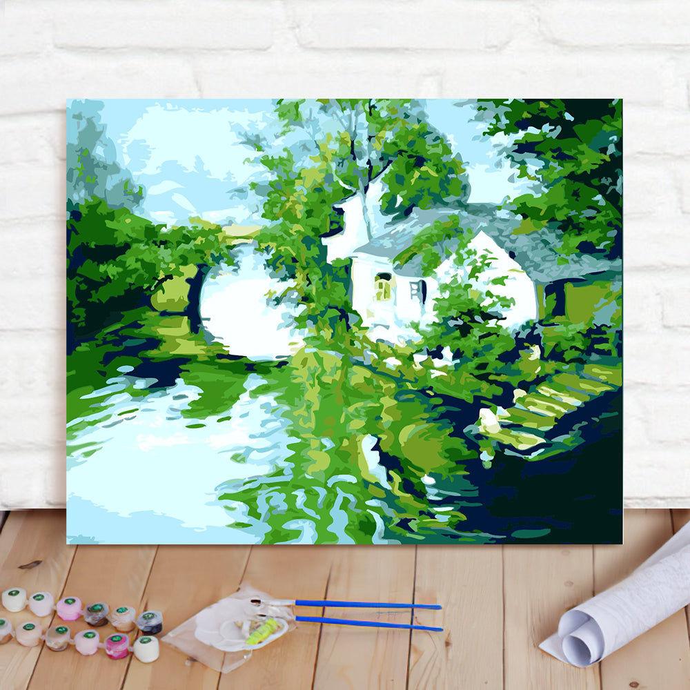 DIY Paint By Numbers Custom Photo Painting Home Decor Wall Hanging-Xiaoqiao Liushui Renjia Painting