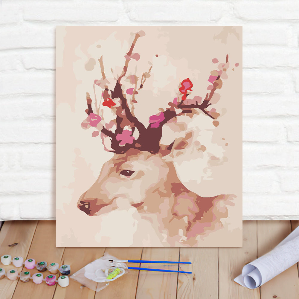 DIY Paint By Numbers Custom Photo Painting Home Decor Wall Hanging-Sika Deer Painting