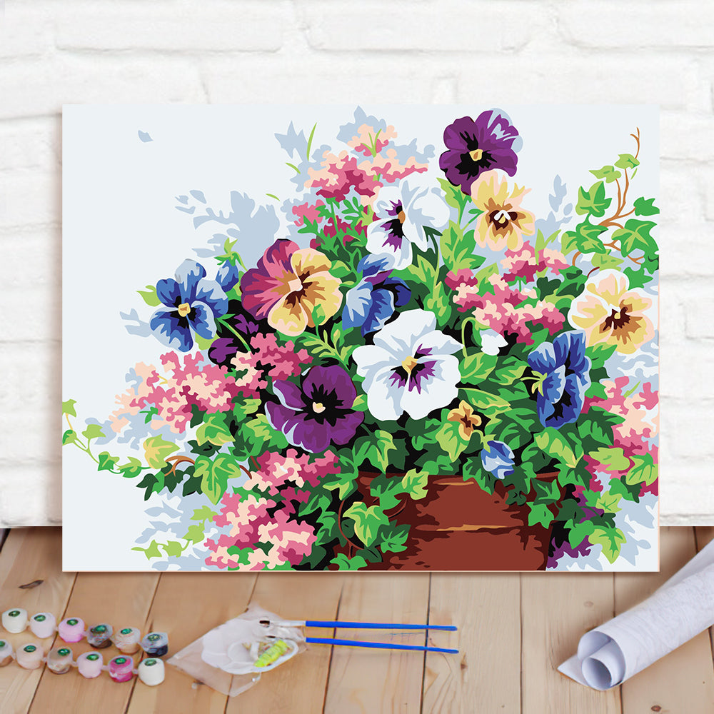 DIY Paint By Numbers Custom Photo Painting Home Decor Wall Hanging-Flower Clusters Painting