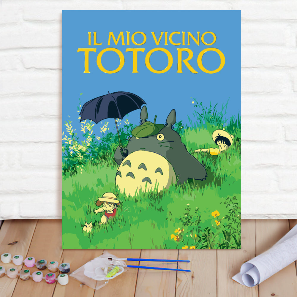 DIY Paint By Numbers Custom Photo Painting Home Decor Wall Hanging-Totoro Cartoon Painting
