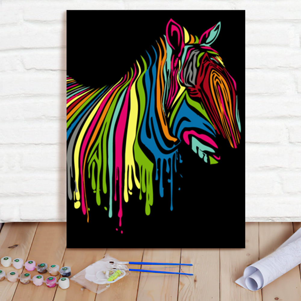 DIY Paint By Numbers Custom Photo Painting Home Decor Wall Hanging-Rainbow Horse Painting