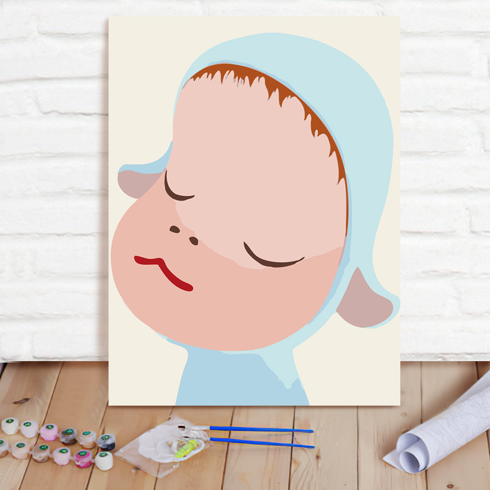 DIY Paint By Numbers Custom Photo Painting Home Decor Wall Hanging-Sleepwalking Doll 1 Painting