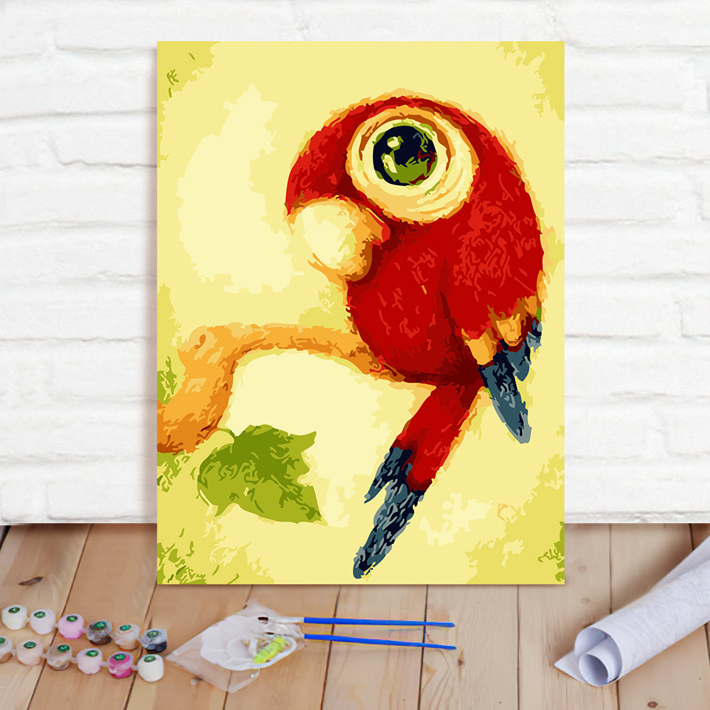 DIY Paint By Numbers Custom Photo Painting Home Decor Wall Hanging-Little Parrot Painting