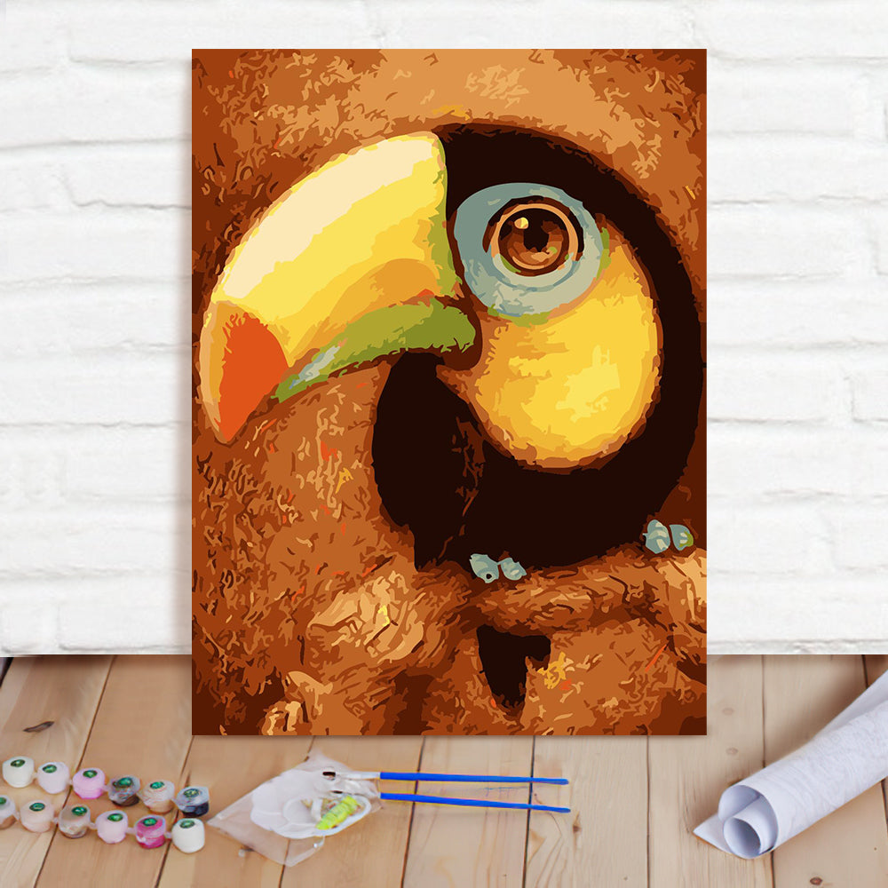 DIY Paint By Numbers Custom Photo Painting Home Decor Wall Hanging-Toucan Painting