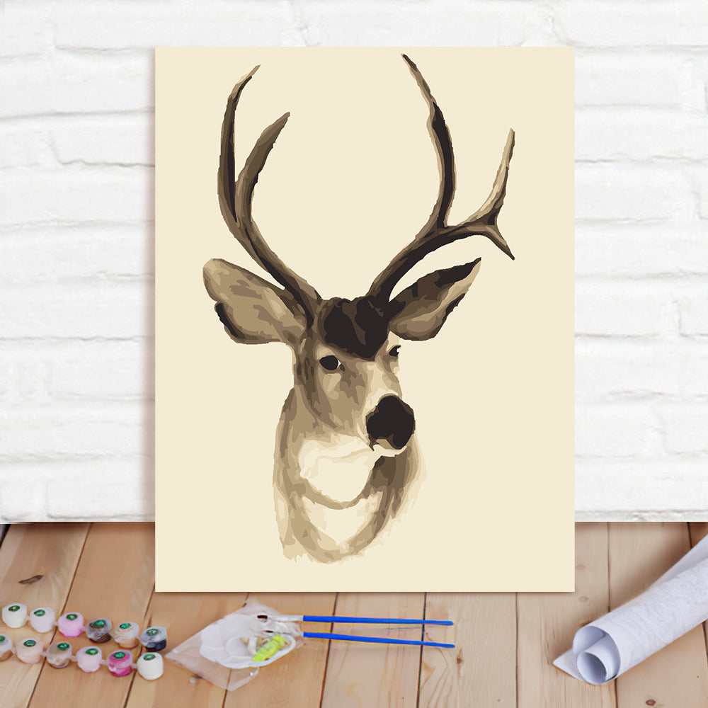 DIY Paint By Numbers Custom Photo Painting Home Decor Wall Hanging-Fortune Deer 1 Painting