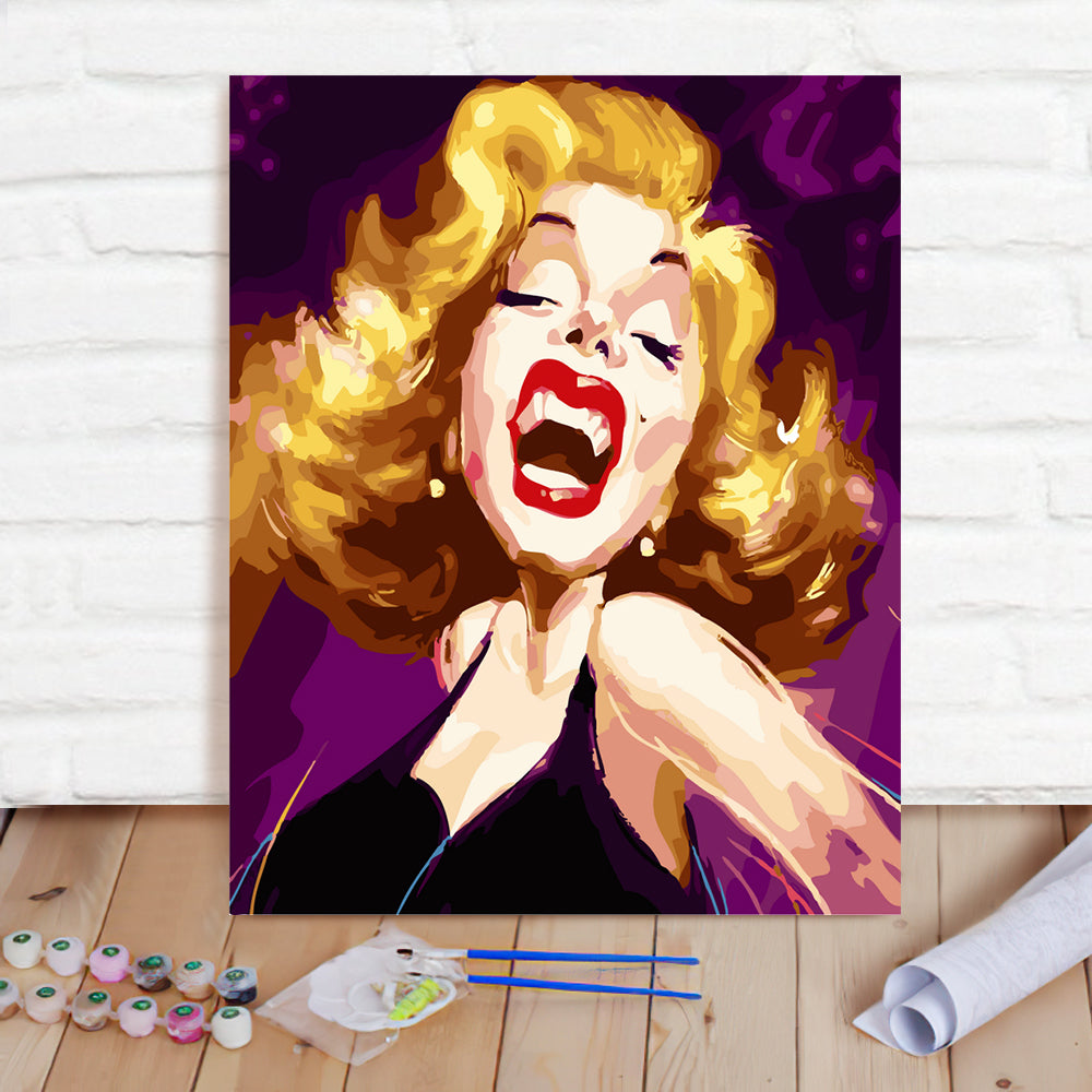 DIY Paint By Numbers Custom Photo Painting Home Decor Wall Hanging-Singer Monroe Painting