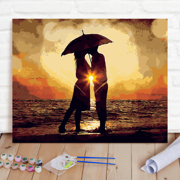 DIY Paint By Numbers Custom Photo Painting Home Decor Wall Hanging-Wind And Rain Together Painting