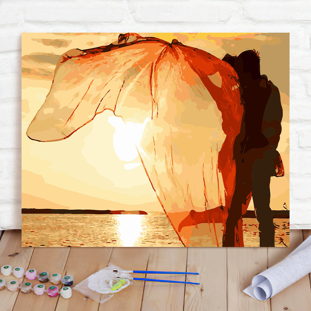DIY Paint By Numbers Custom Photo Painting Home Decor Wall Hanging-Dancing Life Painting