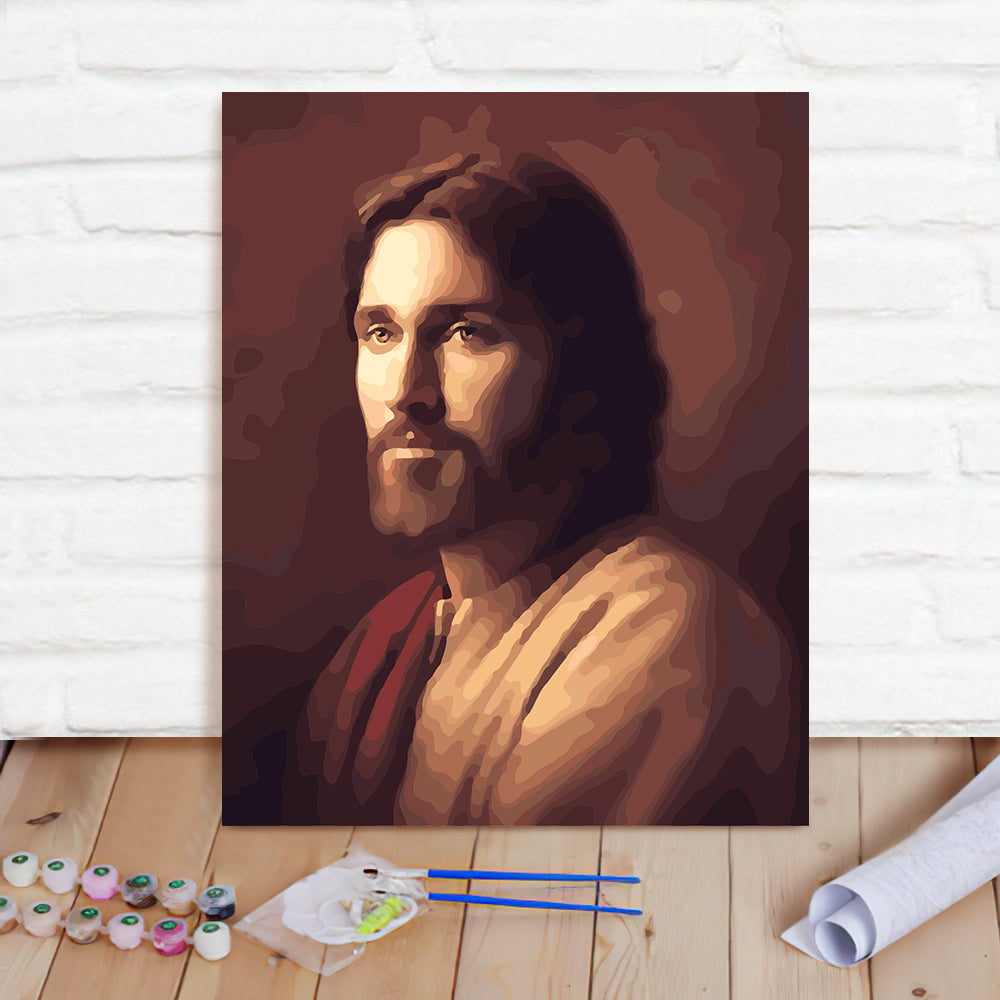 DIY Paint By Numbers Custom Photo Painting Home Decor Wall Hanging-Jesus Painting