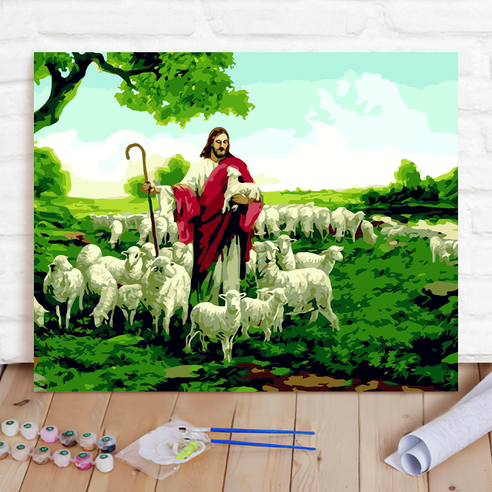 DIY Paint By Numbers Custom Photo Painting Home Decor Wall Hanging-Shepherd Painting