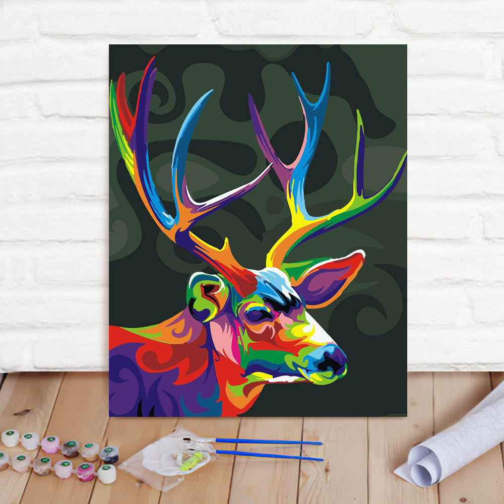 DIY Paint By Numbers Custom Photo Painting Home Decor Wall Hanging-Colored Fawn Painting