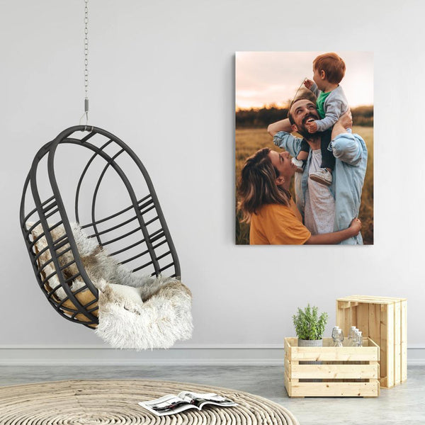 Custom Famliy Photo Canvas Wall Decor Painting No Frame