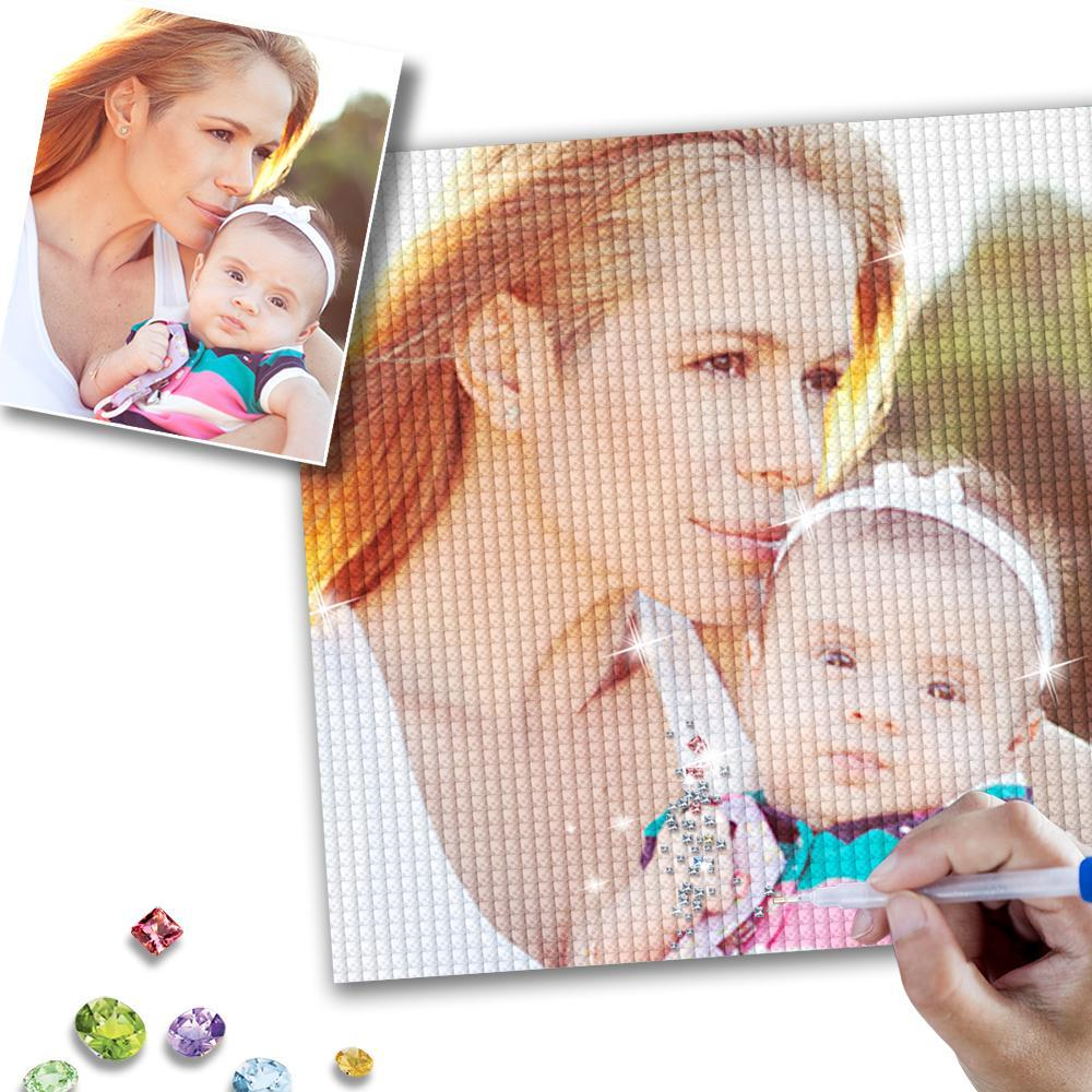 5D DIY Custom Photo Diamond Painting Mother's Day Gifts for Her
