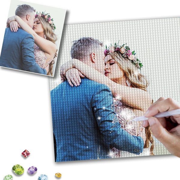 5D DIY Custom Lover Photo Full Square/Round Drill Diamond Painting Valentine's Day Gift