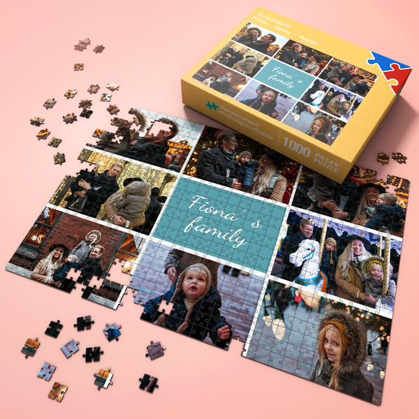 Father's Day Gift Custom Photo Jigsaw Puzzle 35-1000 Piece, Upload 1-10 photos