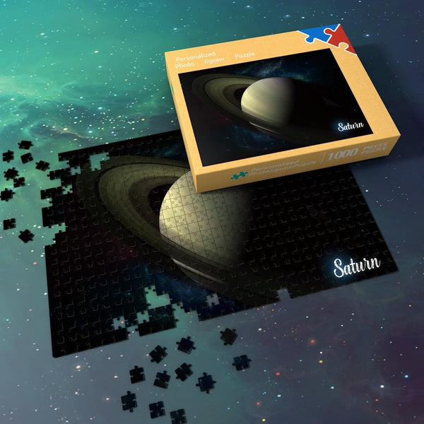 Space Jigsaw Puzzle Universe Planets Astronomy 1000 Pieces For Adults And Kids - Saturn