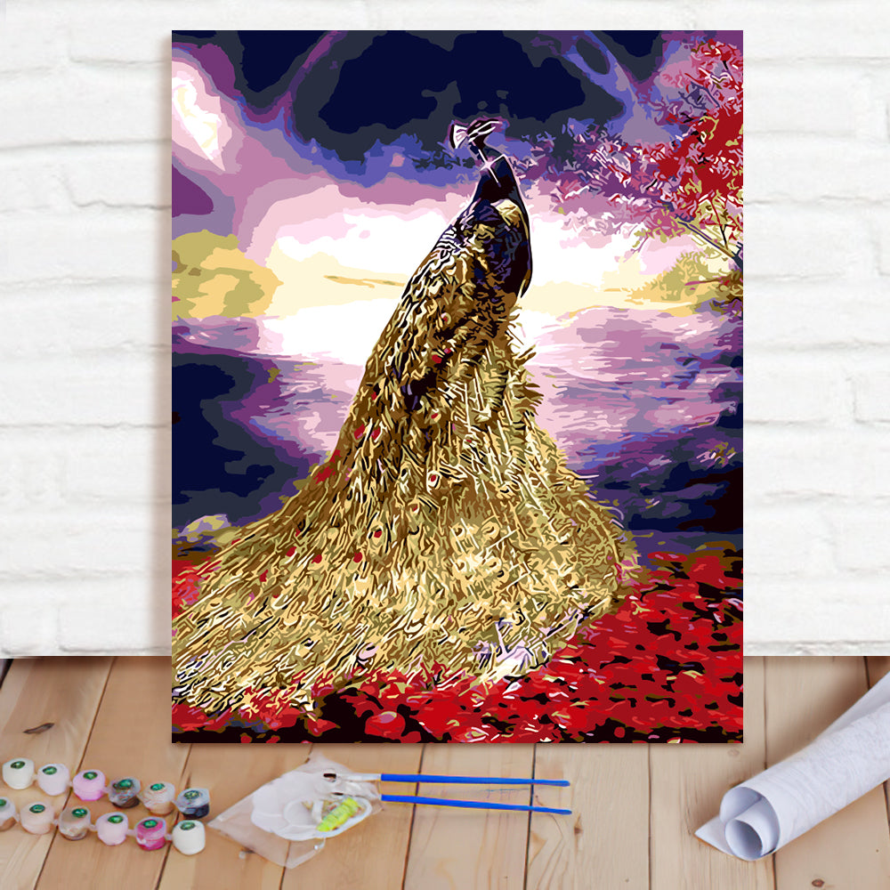 DIY Paint By Numbers Custom Photo Painting Home Decor Wall Hanging-Flaming Phenix Painting