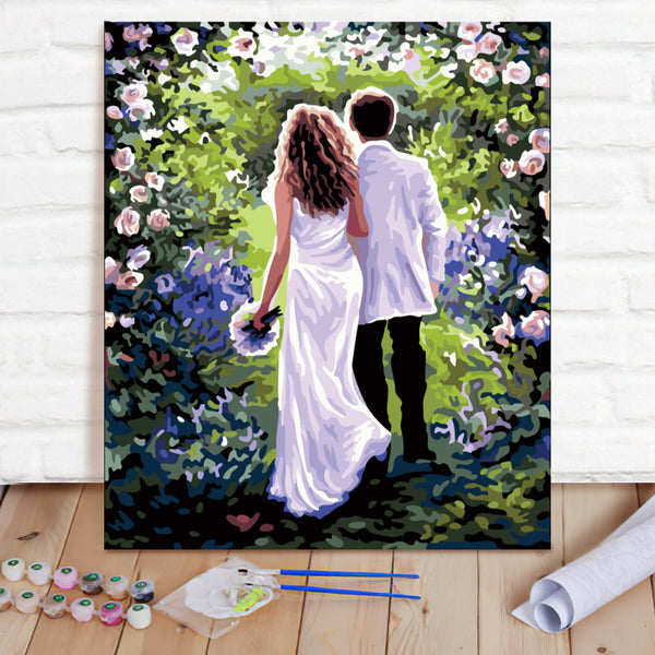 DIY Paint By Numbers Custom Photo Painting Home Decor Wall Hanging-Work Together For A Lifetime Painting