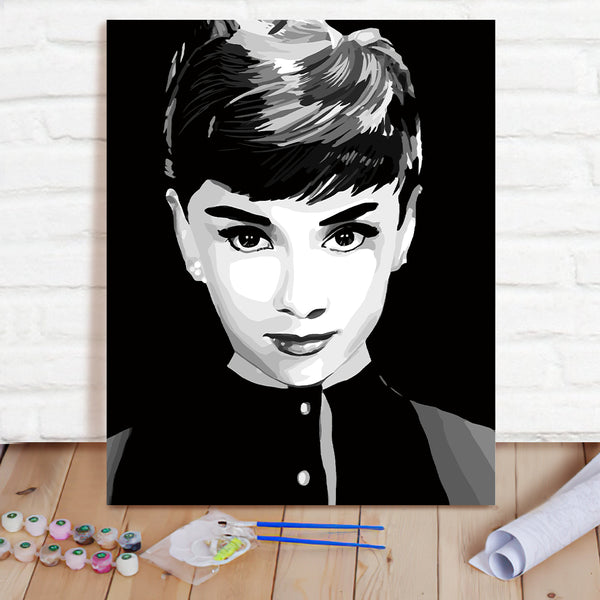 DIY Paint By Numbers Custom Photo Painting Home Decor Wall Hanging-Hepburn Painting