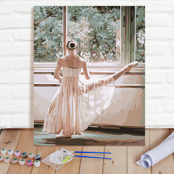 DIY Paint By Numbers Custom Photo Painting Home Decor Wall Hanging-Ballet Painting