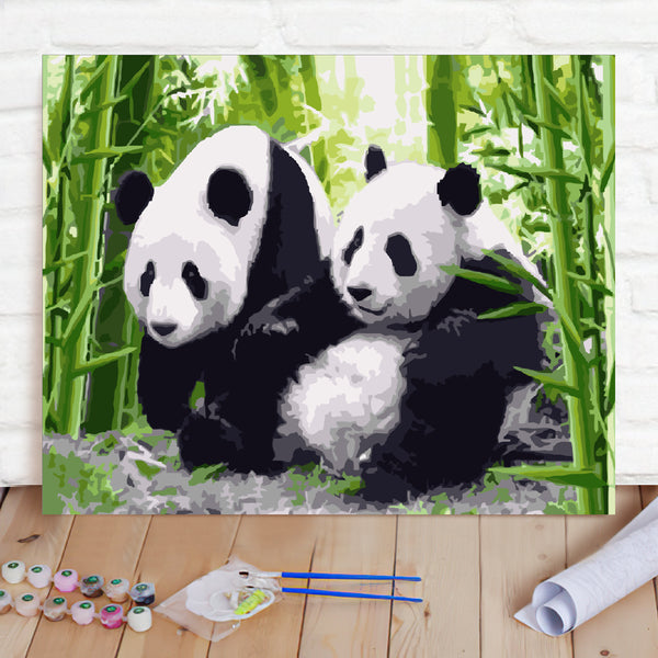 DIY Paint By Numbers Custom Photo Painting Home Decor Wall Hanging-Giant Panda Painting