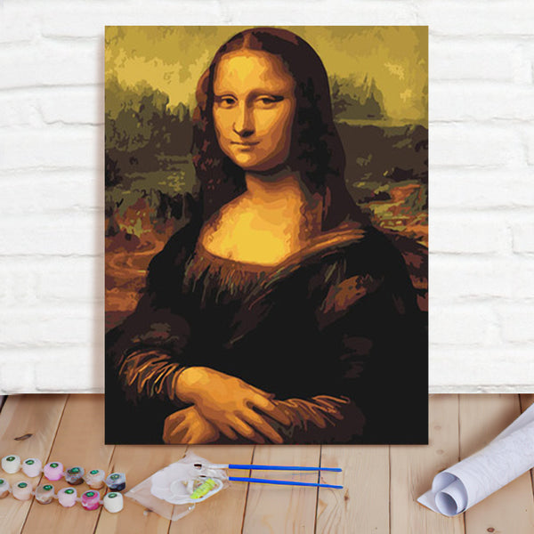 DIY Paint By Numbers Custom Photo Painting Home Decor Wall Hanging-Mona Lisa Painting