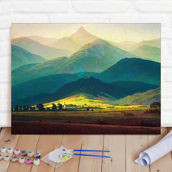 DIY Paint By Numbers Custom Photo Painting Home Decor Wall Hanging-Giant Mountain Painting