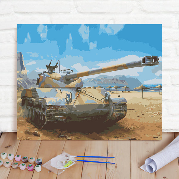 DIY Paint By Numbers Custom Photo Painting Home Decor Wall Hanging-World Of Tanks Painting